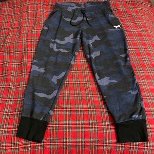 VS Pink Blue Camo Jogger Sweatpants